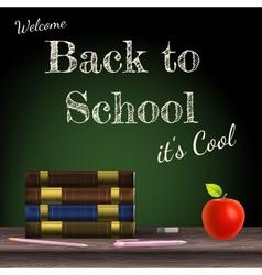 Back to school school books eps 10 vector