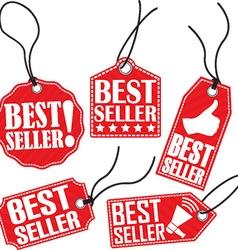 Best seller red tag set vector