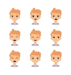 Boy emotions face vector image