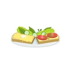 Bruschetta european cuisine food menu item vector