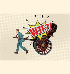 Business rickshaw taxi wtf vector