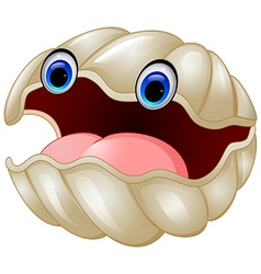 Cartoon oyster vector