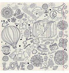 Decorative Doodle Background vector image vector image