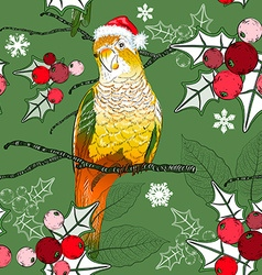 Festive Parrot Background vector image