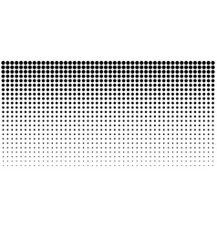 Gradient halftone dots horizontal background vector