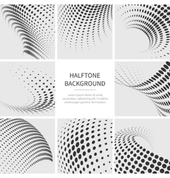 Grunge halftone dotted abstract backgrounds vector