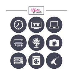 home appliances device icons electronics sign vector image