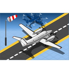 Isometric white private plane vector