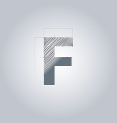 Letter f logo alphabet logotype architectural vector