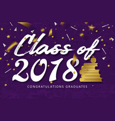 Lettering class of 2018 vector