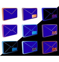 Mail icons for web design vector image vector image