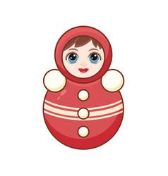 matryoshka babushka doll childrens toy vector image vector image