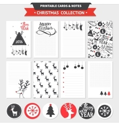 Merry Christmas printable set vector image vector image