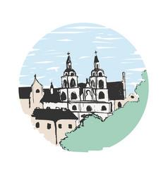 Minsk church sketch vector