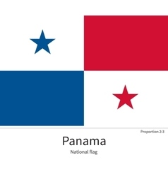 National flag of panama with correct proportions vector