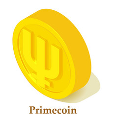 Primecoin icon isometric style vector