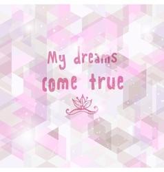 Romantic dream background Seamless geometric vector image
