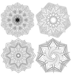 set of mandalas vector image