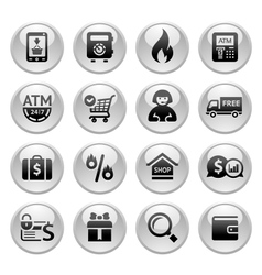 Shopping Icons Gray buttons new vector image vector image