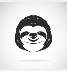 Sloth head design on white background wild vector