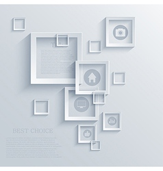 Square background eps10 vector