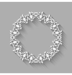 vintage border white frame vector image vector image