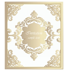 Vintage classic invitation card imperial style vector