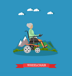 Wheelchair in flat style vector