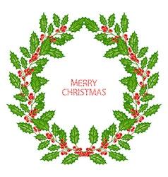 Winter holidays wreath vector