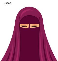 - arab niqab style beautiful arabic vector