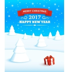 Merry christmas and happy new year 2017 vector
