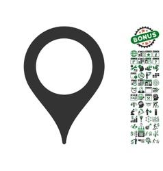 Map pointer icon with bonus vector