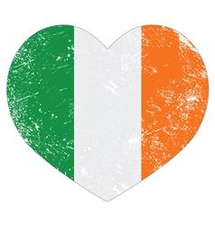 Ireland heart retro flag St Patricks Day vector image