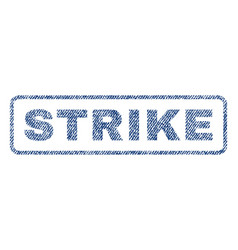 Strike textile stamp vector