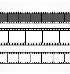 Film strip collection in different sizes vector