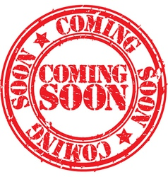 Coming soon stamp vector image