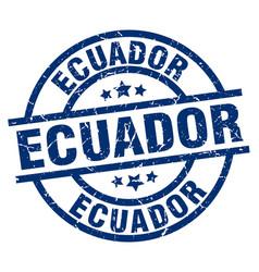Ecuador blue round grunge stamp vector