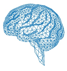 Human brain with geometric pattern vector