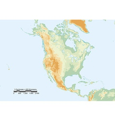 North america physical vector