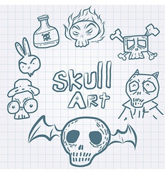 Skulldoodles vector