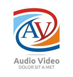 Logo letter av consulting icon busines vector