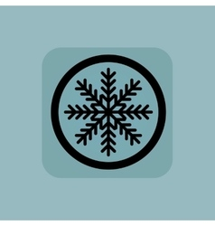 Pale blue winter sign vector