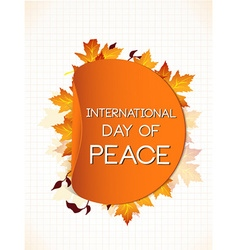 International day of peace with sticker vector