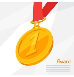 Gold medal award on abstract vector