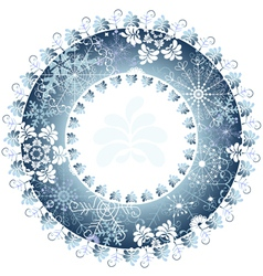 christmas round frame vector image