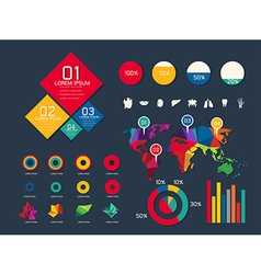 Set elements of infographic vector