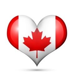 Canada Heart flag icon vector image