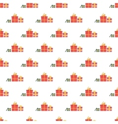 Gift boxes pattern seamless vector