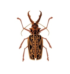Big beetle deer with horns vector