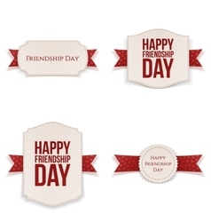 Friendship day realistic banners set vector